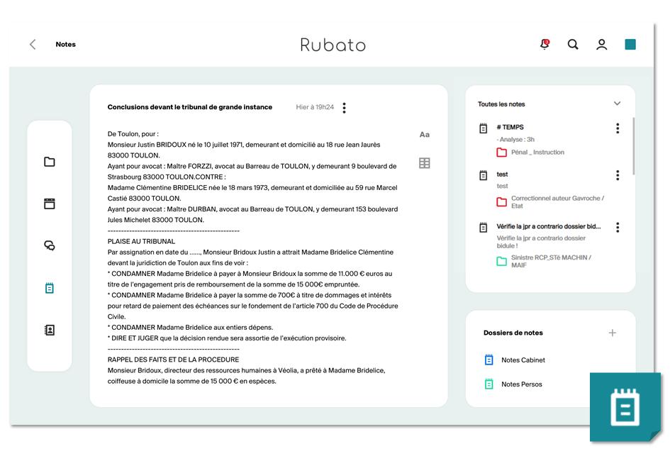 Rubato avocat avocate - Notes Postit numériques